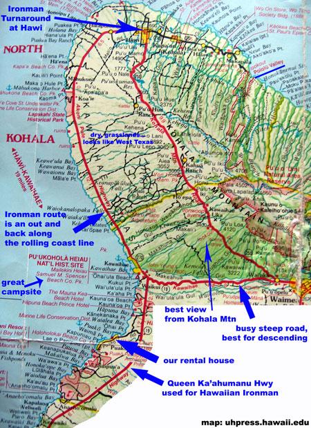 Kohala Hawaii Map.2006 2007 Ford Ironman World Championship Bike Course Tv Schedule