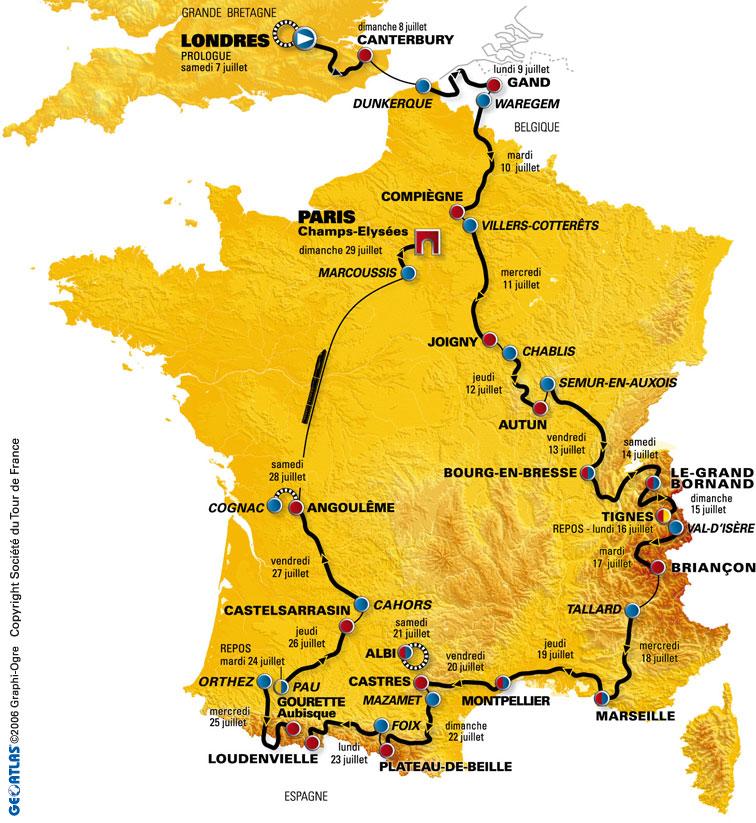 2007 tour de france route map