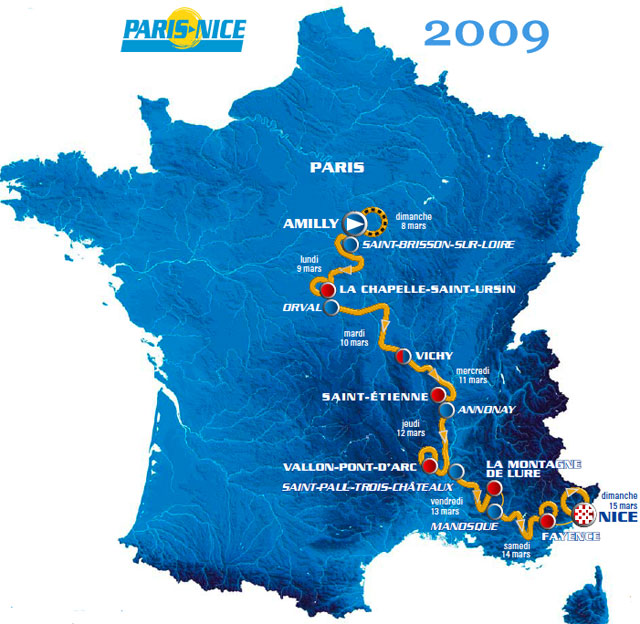 ParisNice Video Route Preview Teams Results Photos TV - Paris to nice