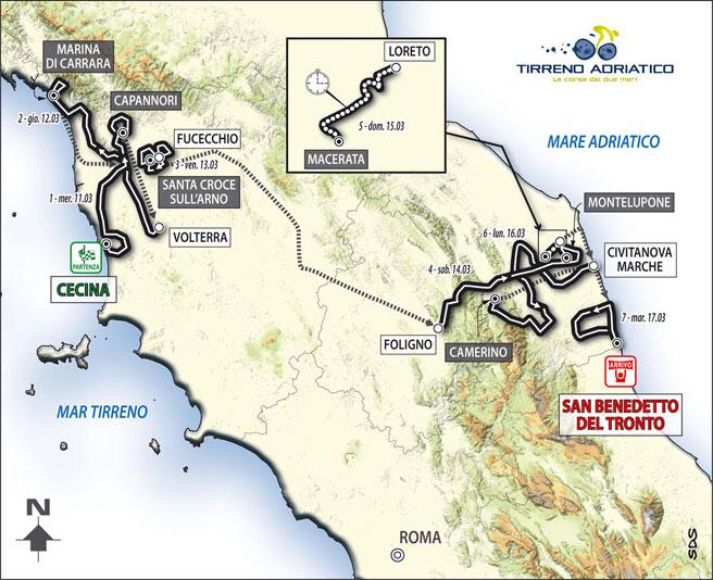 2009 Tirreno Adriatico Race (Cycling) preview 0