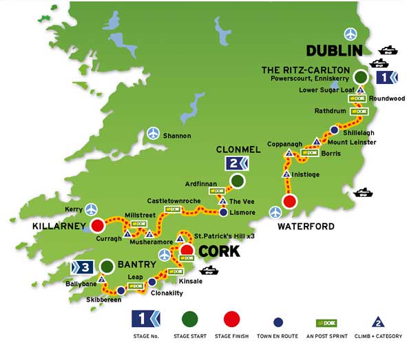 2009 Tour of Ireland Video TV Route Results Photos Teams – Tourist Map Of Ireland