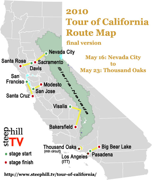 2010 Amgen Tour of California Route News Video Preview Photos