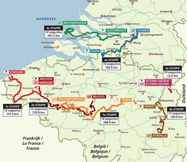 Eneco Tour Live Video Route Teams Results Photos TV - Geleen map