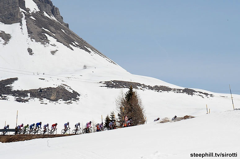 Photo: Nothing but time-trialing and mountains for this four day stage race featuring the dramatic, picturesque Dolomites.