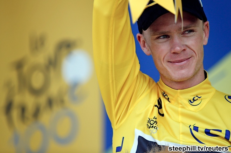 Chris Froome claimed the Yellow Jersey on Stage 8 and continued to extend  his lead on his way to winning the 100th Tour de France. 429578bfd