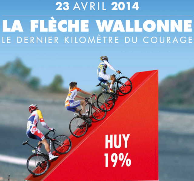 Photo: 2014 Fleche Wallonne Profile. (steephill.tv)