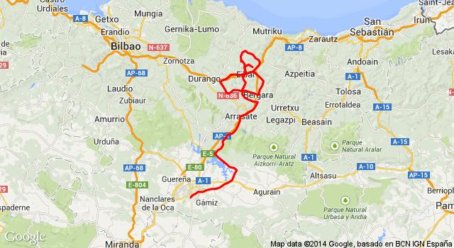 Map Of Spain Eibar.2014 Itzulia Basque Country Live Video Route Teams Results