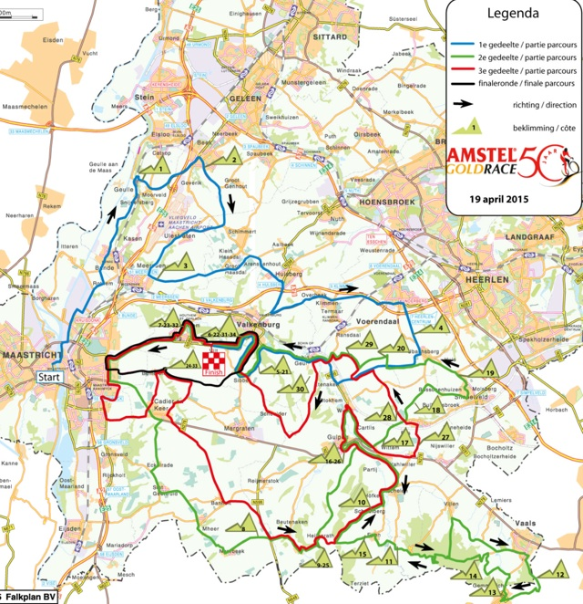 Amstel Gold Race - 2015 Course-map-640