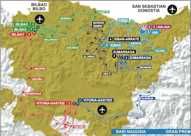 Map Of Spain Eibar.2015 Itzulia Basque Country Live Video Preview Startlist Results