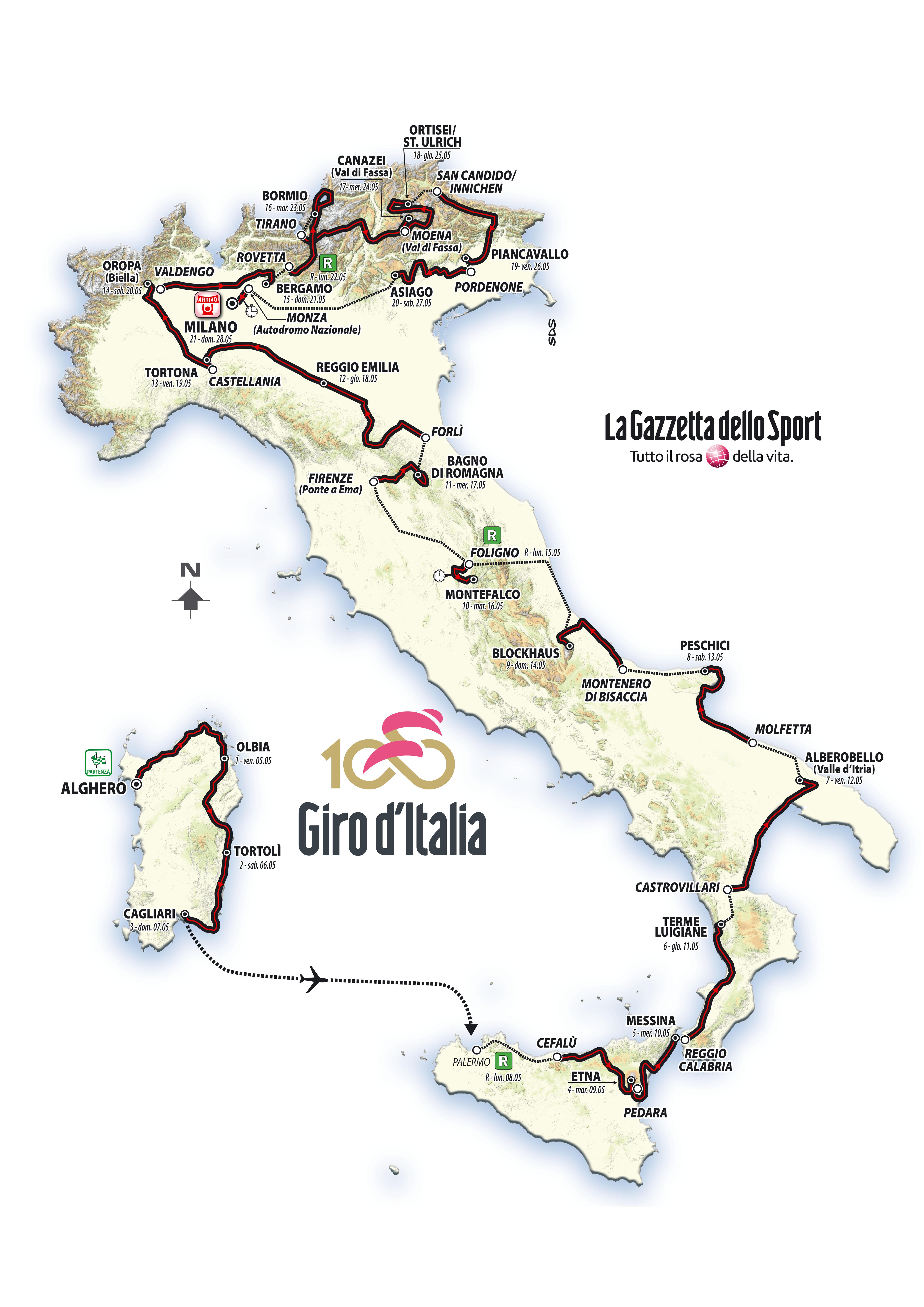 Cartina Percorso Giro D Italia 2017.Giro 2017 Bravo Ma Non Si Impegna Lasterketa Burua