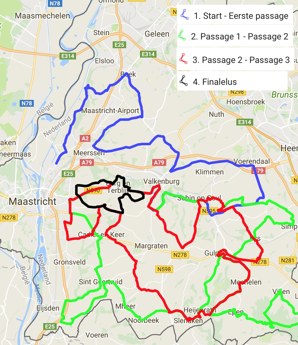 Amstel Gold Race Route Map