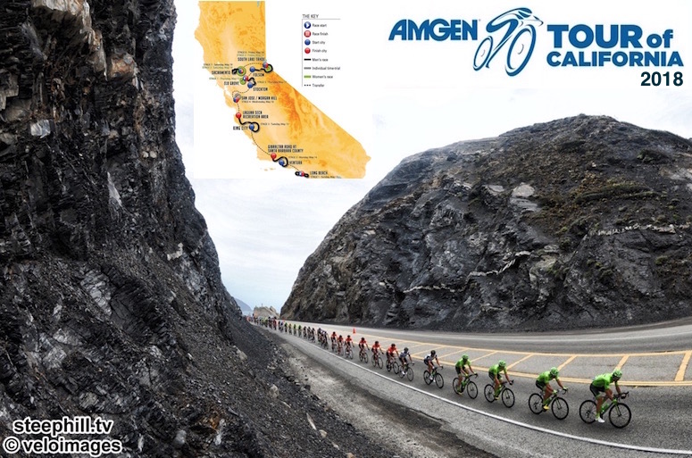 2018 Amgen Tour of California Live Video Preview Startlist Route