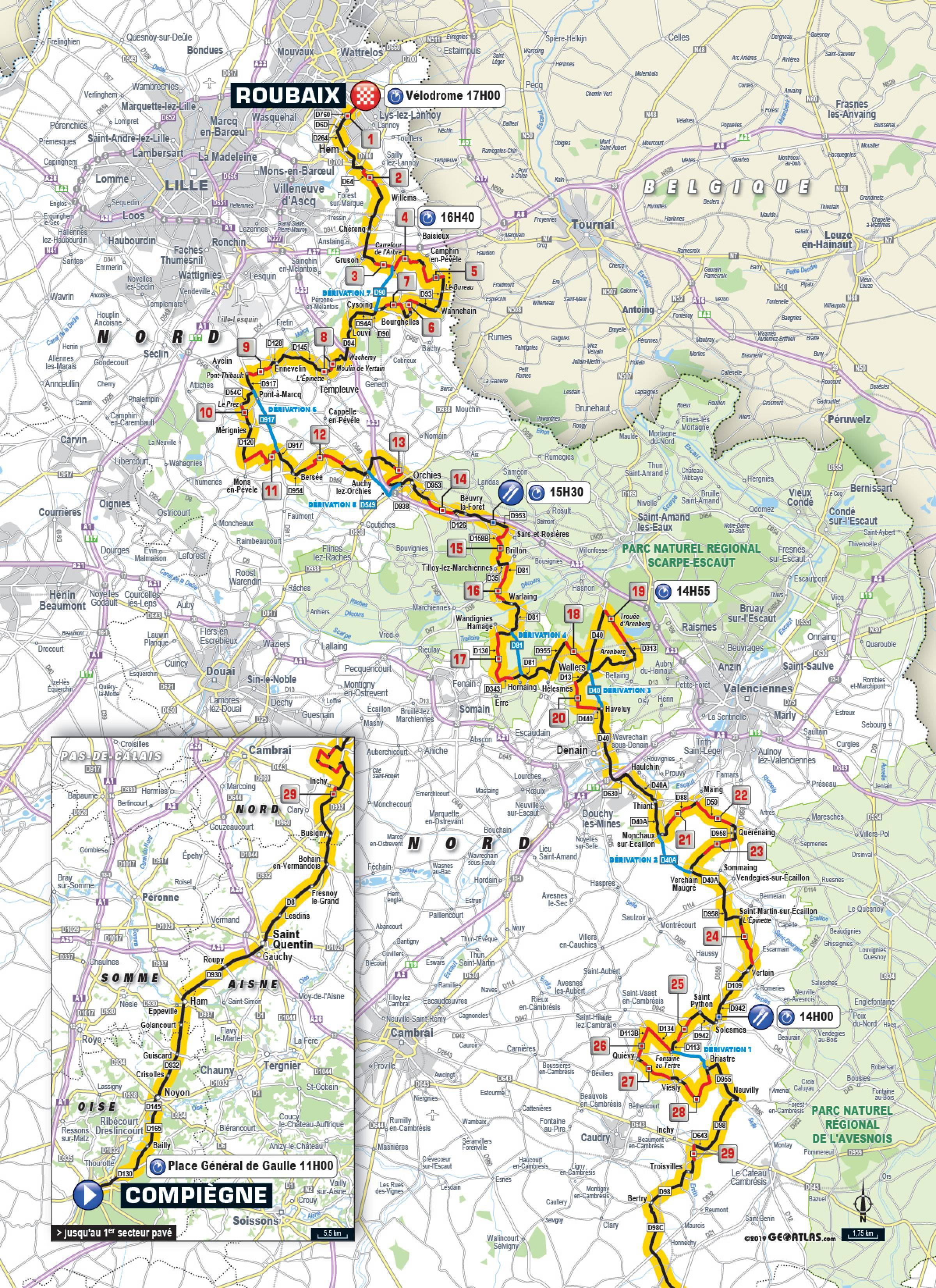 2019 Paris-Roubaix Live Video, Route, Startlist, Preview