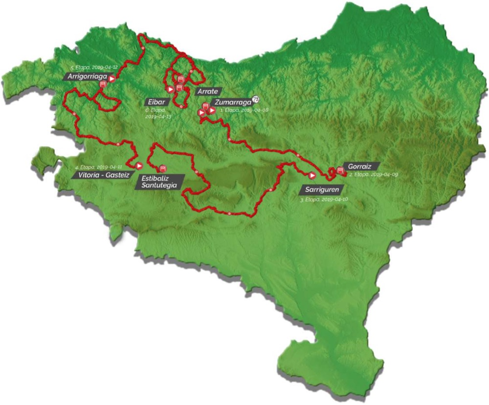 Map Of Spain Eibar.2019 Itzulia Basque Country Live Video Preview Startlist Route
