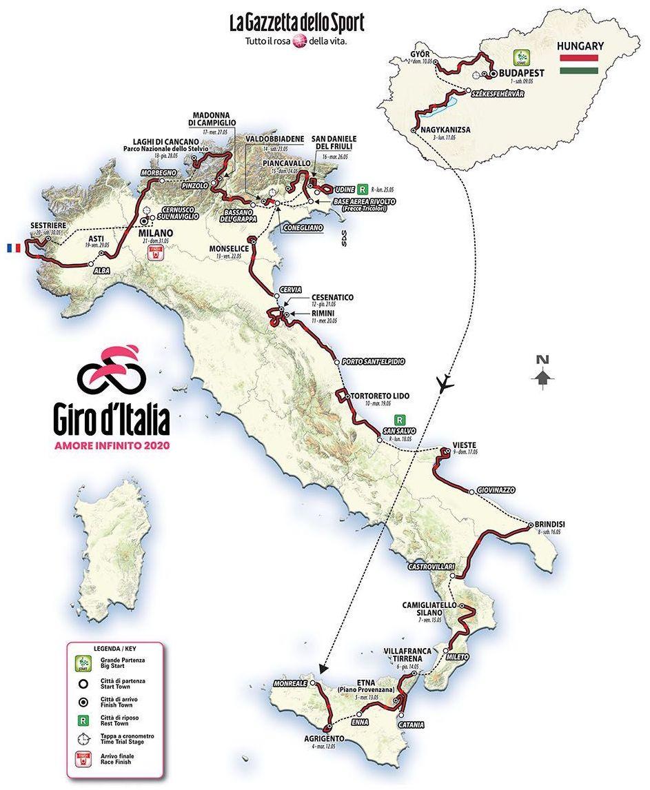 ainutlaatuinen muotoilu 2018 lenkkarit herkät värit 2020 Giro d'Italia Live Video, Preview, Startlist, Route ...
