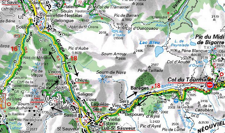 Luz-Saint-Sauveur France  city pictures gallery : → Luz St. Sauveur → Col du Tourmalet → Luz St. Sauveur → Luz ...